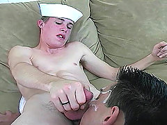 Sexy and cute military dude masturbating in this video !