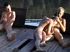 Village twinks sucking by the river