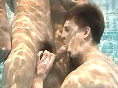Some boys doing blowjob under water